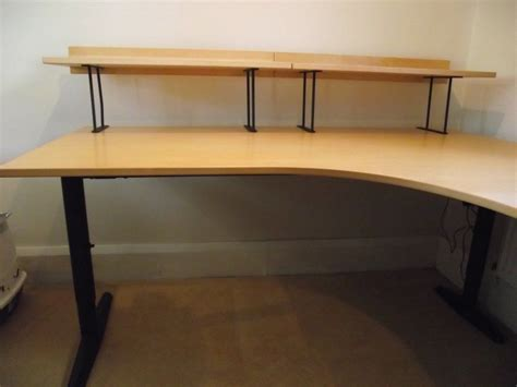 l desk ikea large ikea corner l shaped desk condition