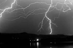Black And White Massive Lightning Strikes by James BO Insogna