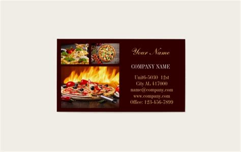 catering business card templates  publisher
