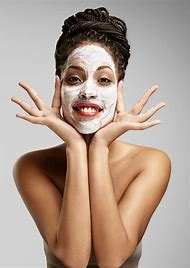 Black Woman Facial Mask