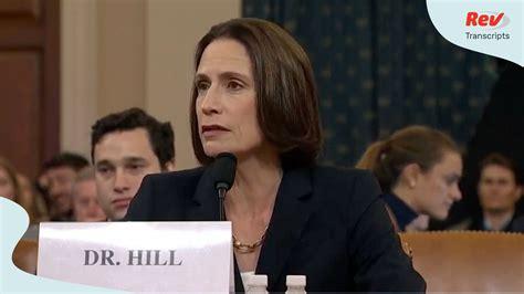 impeachment hearing day  transcript fiona hill