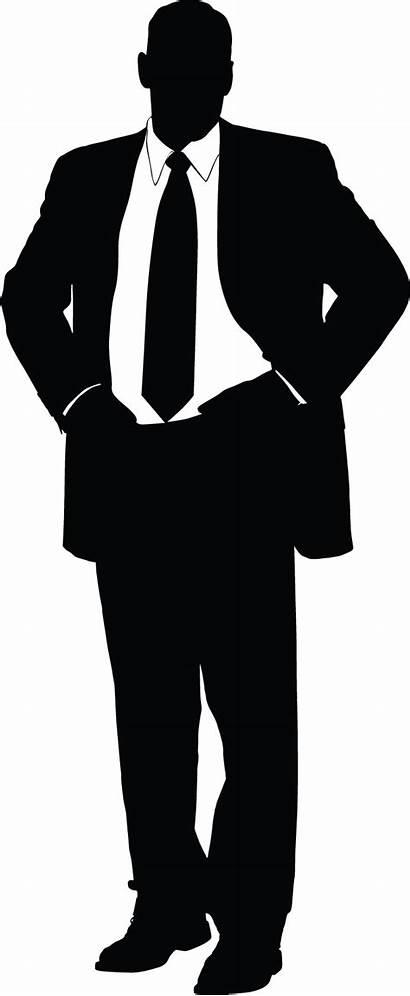 Silhouette Businessman Suit Clip Clipart Transparent Homme