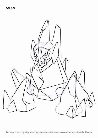 Pokemon Draw Drawing Step Gigalith Tutorials Anime