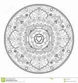 Eth Mandala Coloring Fabric Floral sketch template