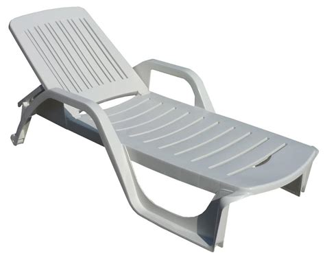 Reclining Garden Furniture by Deck Chair Made Of Plastic With Armrests Adjustable