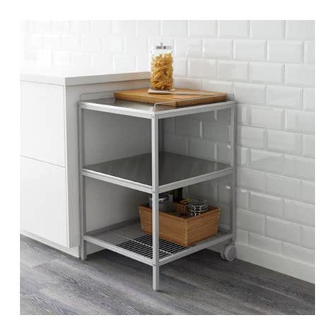 Ikea Küchenregal Udden by Udden Kitchen Trolley Silver Colour Stainless Steel 54x54
