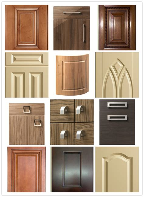 mm fancy mdf board vinyl wrapped pvc kitchen cabinet