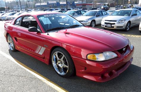 Laser Red 1997 Saleen S281 Ford Mustang Coupe