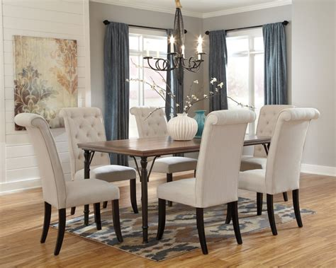 tripton rectangular dining room table 6 uph side chairs