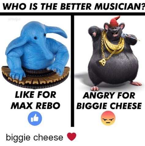 Biggie Cheese Memes - who is the better musician like for angry for max rebo biggie cheese biggie cheese meme on
