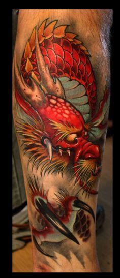 deadly dragon tattoos  men manly mythical monsters