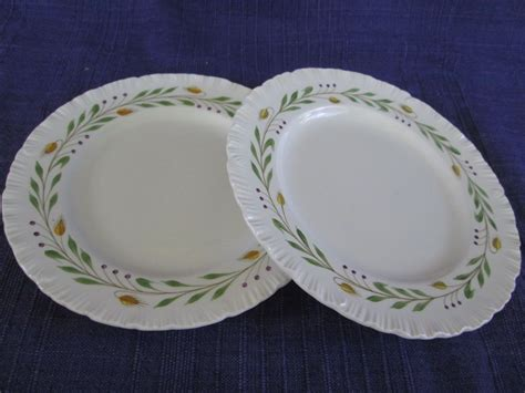 What does barley flour taste like? Wedgwood Barley BREAD PLATES -SET of TWO (2) discounted ...