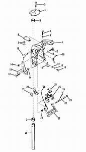Mercury Marine 4 5 Hp  1 Cylinder  Swivel Bracket Assembly Parts