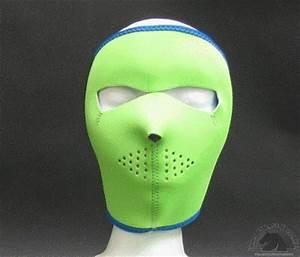 Neon Blue Reverses to Lime Neoprene Face Mask Iron Horse