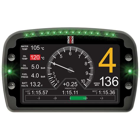 stack race rally lcd multi function dashboard data