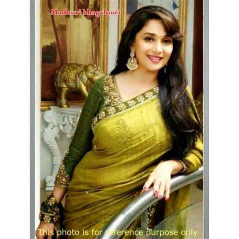 madhuri dixit  bhagalpuri green saree