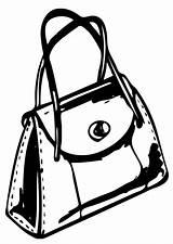 Handbag Coloring Printable sketch template