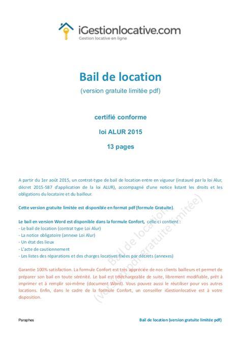 modele de bail professionnel pdf bail de location gratuit
