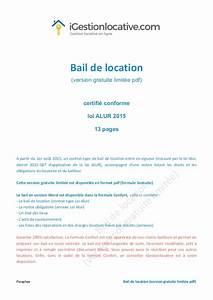contrat de location maison individuelle gratuit segu maison With bail de location non meuble gratuit