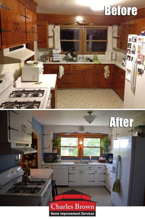painting knotty pine cabinets   lake house kitchen