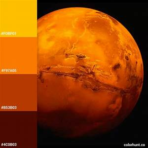 Color Palettes Of The Solar System Stars