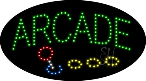arcade animated led sign games led signs   neon