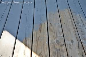 Can You Stain A Painted Deck we finally stained our deck cottage at the crossroads
