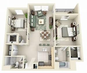 50, Two, U0026quot, 2, U0026quot, Bedroom, Apartment, House, Plans