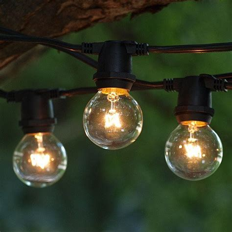 outdoor commercial string globe lights 24ft 24 sockets