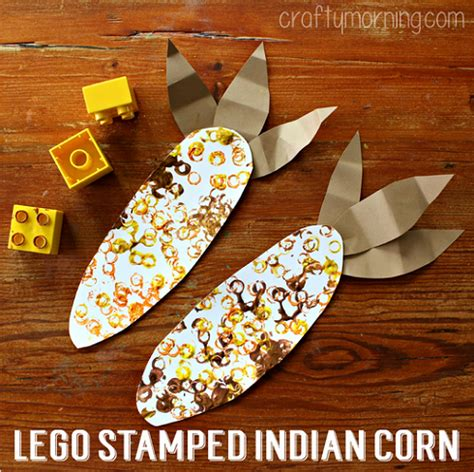 45 of the cutest fall crafts for how wee learn 620 | Fall crafts for preschoolers Lego stamped corn