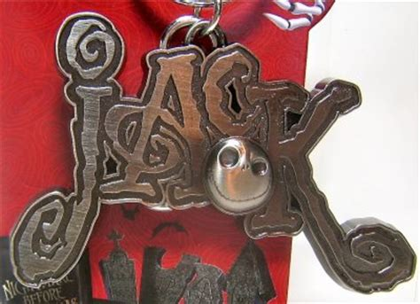 jack skellington  pewter keychain   keychains collection disney collectibles