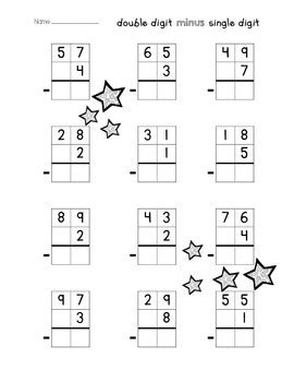 single digit vertical subtraction without regrouping digit addition subtraction without regrouping