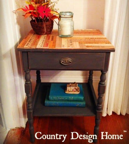diy reclaimed ruler side table with americana decor chalky