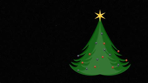 green christmas tree in space christmas