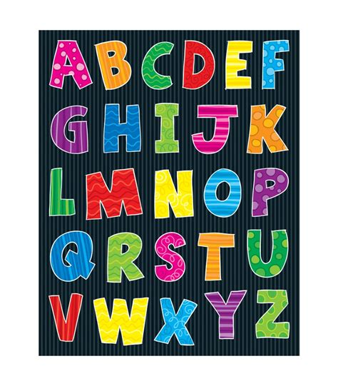 alphabet uppercase letters shape stickers grade pk 5 carson dellosa publishing