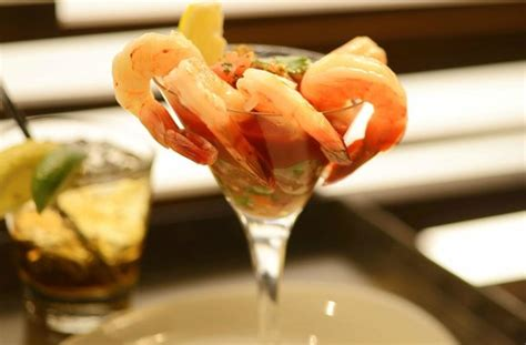 poached shrimp cocktail from the arizona room patio