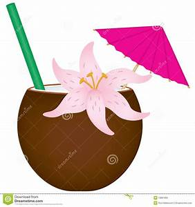 Tropical Drink stock vector. Illustration of umbrella ...