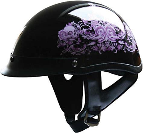 ladies motorcycle helmet hci purple flower women 39 s motorcycle half helmet with