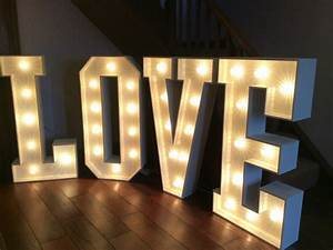 love light up letters tie the knot events With love light letters