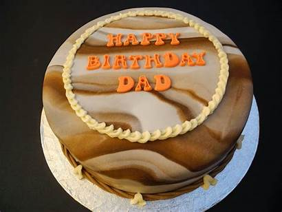 Birthday Dad Happy Cake Father Lovely Wishes