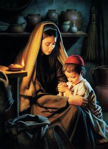 In Favour With God  Jesus Praying With His Mother