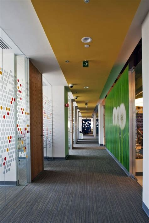 colorful corporate office interior design  space