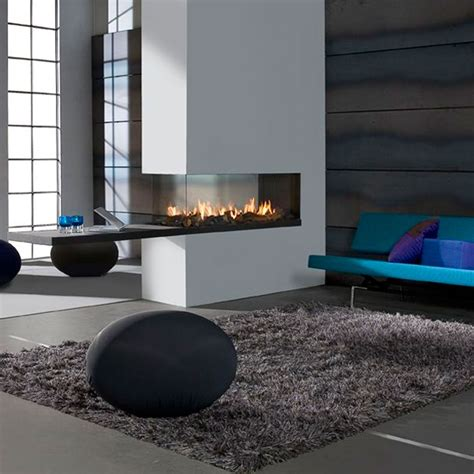 Lineafire Fireplaces Room Divider Medium, Wood And Gas
