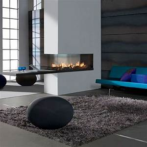 Lineafire Fireplaces Room Divider Medium  Wood And Gas