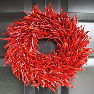 Organic Red Chili Pepper Wreath - The Green Head
