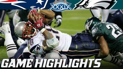 patriots  eagles super bowl xxxix full highlights