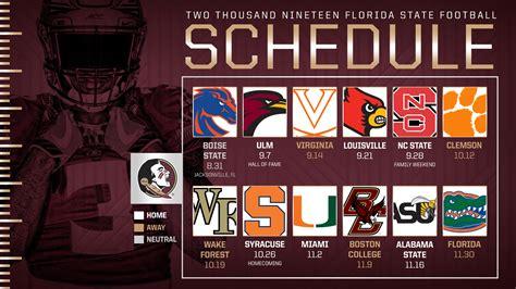 fsus schedule set