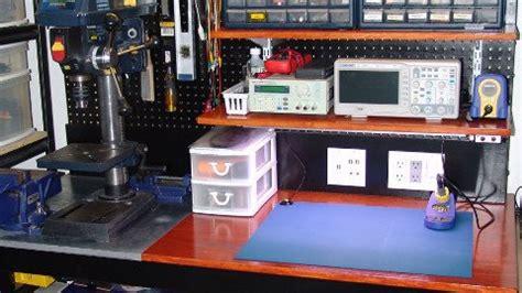 apartment garage diy electronics workbench