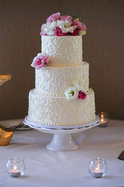 simple wedding cake with swirls the french gourmet