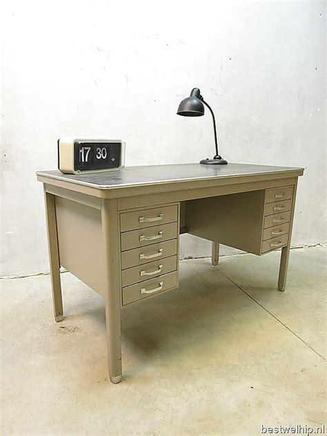 bureau retro industrieel metalen vintage bureau vintage desk